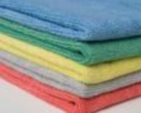 brightly colored microfiber cloths