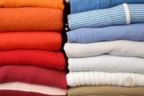 stack of folded clothing